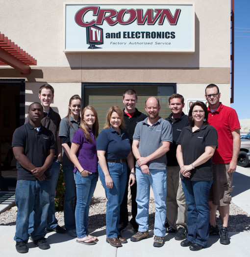 Crown TV & Electronics team